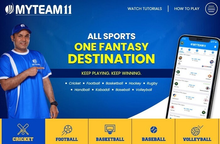 MyTeam11 Fantasy Sports Offer